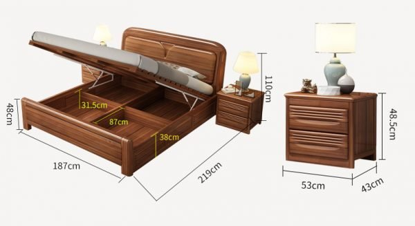 Ixelles Divan Bed Frame Singapore Bed with storage space SingaporeHomeFurniture
