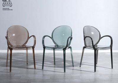 Aries Ghost Chair Transparent Chair Singapore SingaporeHomeFurniture