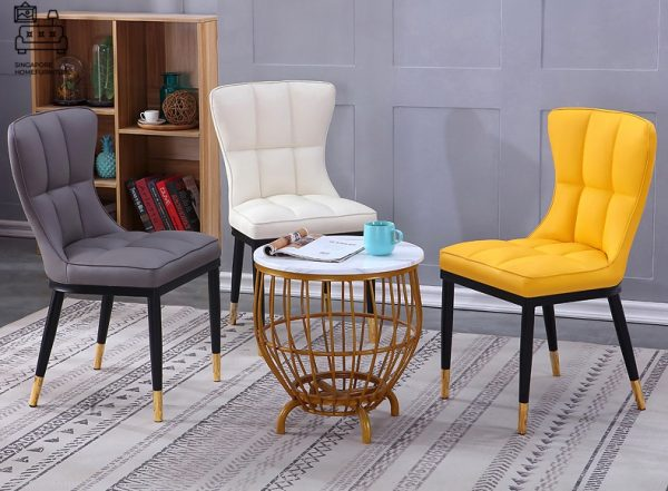 Colmar Leather Dining Chair Singapore SingaporeHomeFurniture