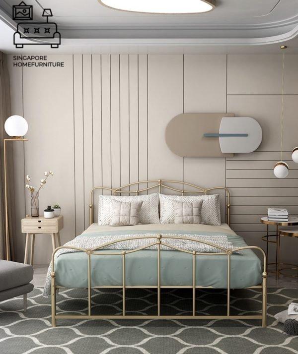 Dendermonde Wrought Iron Bed Frame Singapore SingaporeHomeFurniture