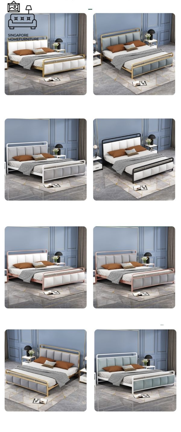 Tongeren Wrought Iron Bed Frame Singapore SingaporeHomeFurniture