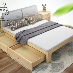 Geel Pull Out Bed Frame Singapore Trundle Bed SingaporeHomeFurniture