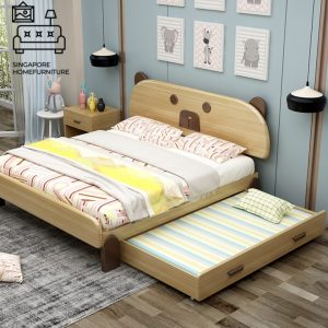 Lommel Pull Out Bed Frame Singapore Trundle Bed SingaporeHomeFurniture