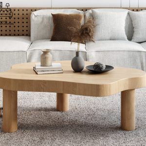 Almere Wooden Coffee Table Singapore SingaporeHomeFurniture