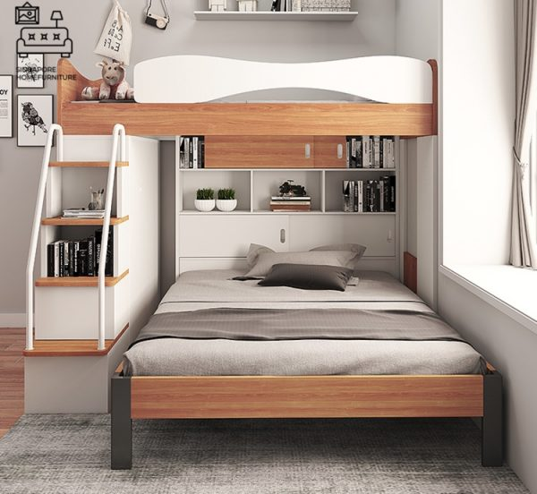 Florenville Double Decker Bed Frame Singapore Bunk Bed Singapore SingaporeHomeFurniture