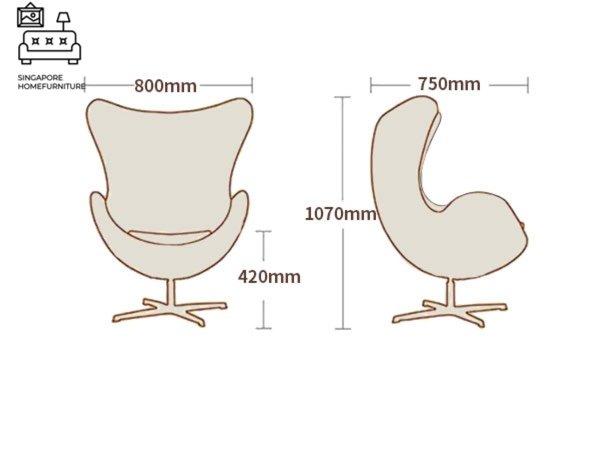 Arjona Egg Chair Singapore SingaporeHomeFurniture