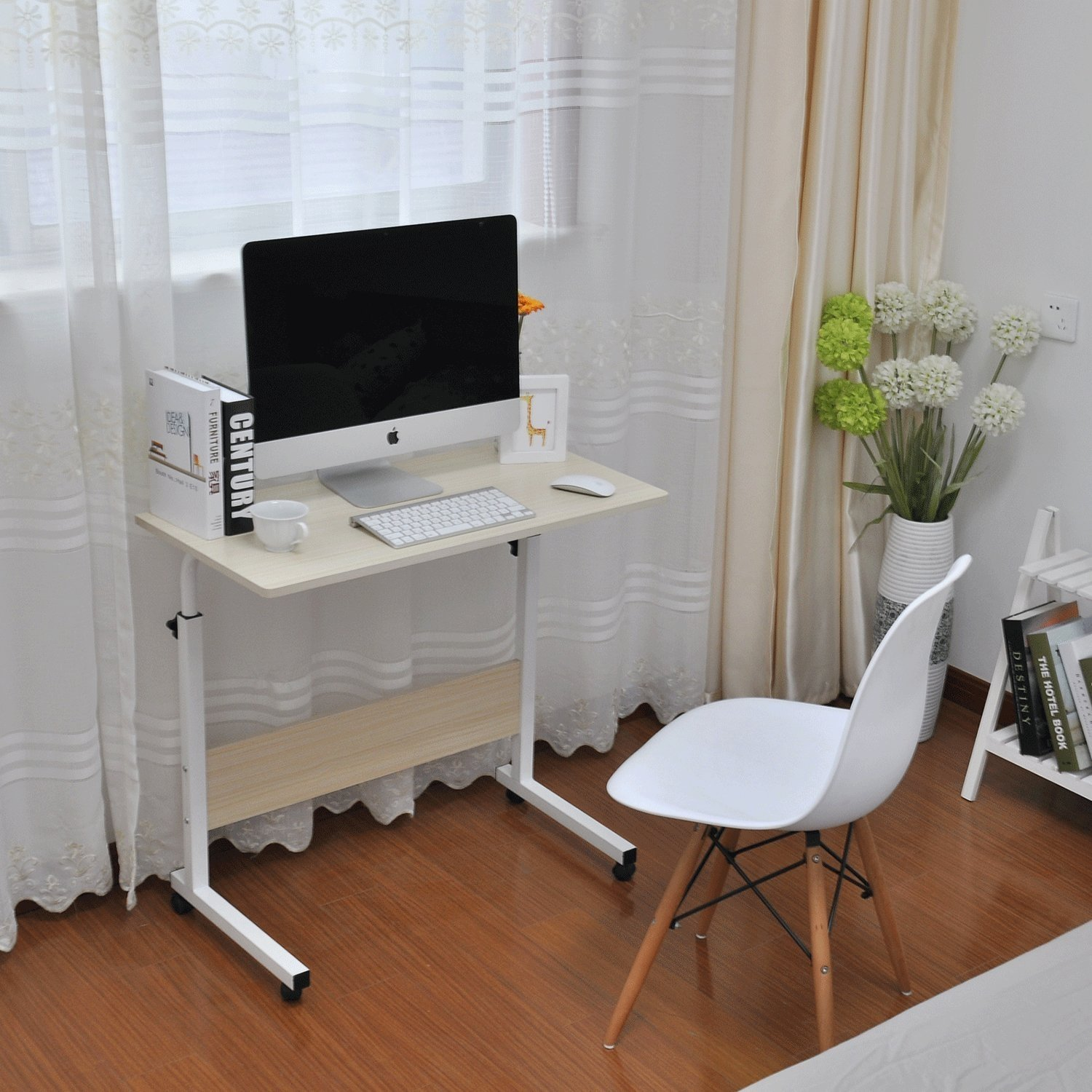 Computer Table with Wheels Singapore SingaporeHomeFurniture