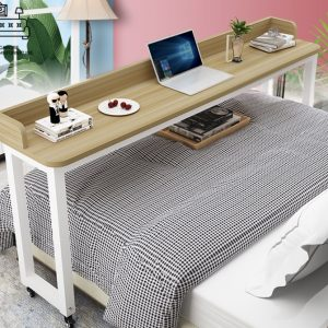 Plock Computer Table with Wheels Singapore SingaporeHomeFurniture