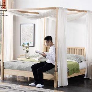 Ronse Canopy Bed Frame Singapore SingaporeHomeFurniture