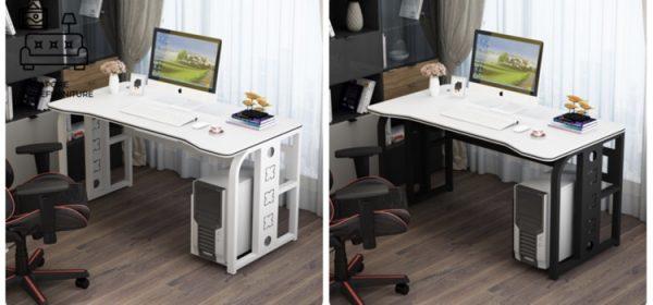Slupsk Computer Table with Wheels Singapore SingaporeHomeFurniture