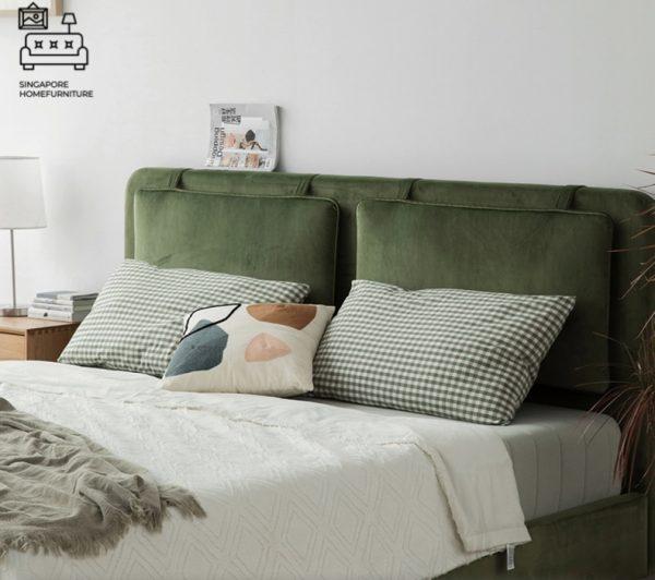 Bastogne Velvet Bed Frame Singapore SingaporeHomeFurniture