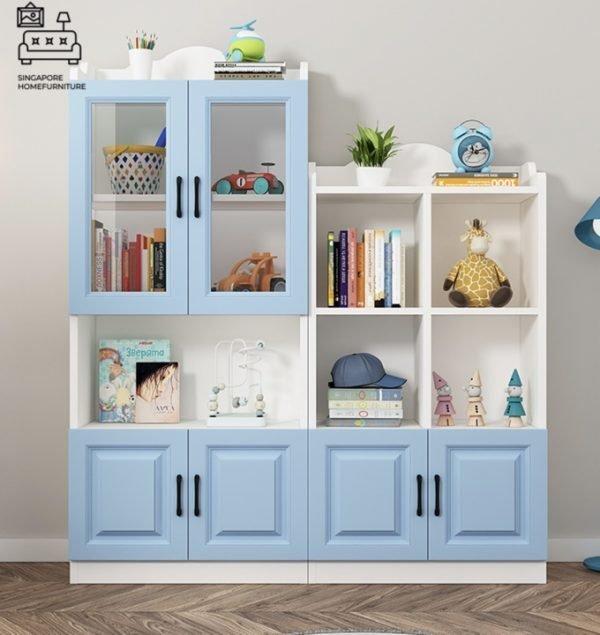 Campina Bookshelf With Doors Singapore Cabinet With Doors Singapore SingaporeHomeFurniture