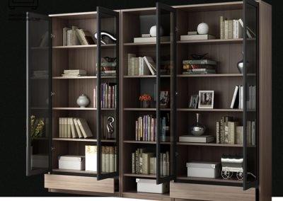 Dej Bookshelf With Doors Singapore Cabinet With Doors Singapore SingaporeHomeFurniture