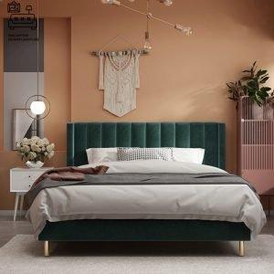 Fontaine Velvet Bed Frame Singapore SingaporeHomeFurniture