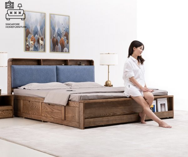 Marche Storage Bed Frame Singapore Gas Lift Bed Frame Singapore SingaporeHomeFurniture