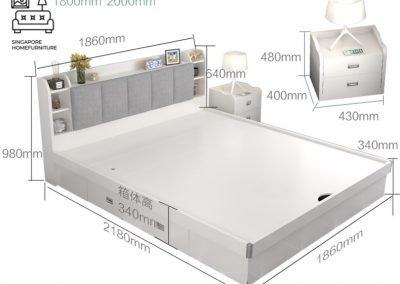 Ottignies Storage Bed Frame Singapore Gas Lift Bed Frame Singapore SingaporeHomeFurniture