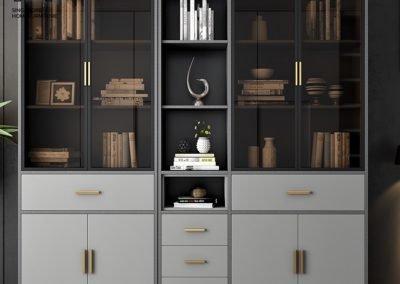 Pascani Bookshelf With Doors Singapore Cabinet With Doors Singapore SingaporeHomeFurniture