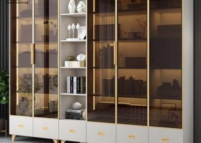 Reghin Bookshelf With Doors Singapore Cabinet With Doors Singapore SingaporeHomeFurniture