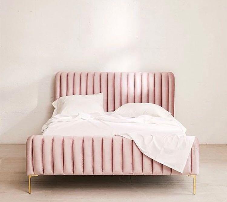 Velvet Bed Frame Singapore SingaporeHomeFurniture